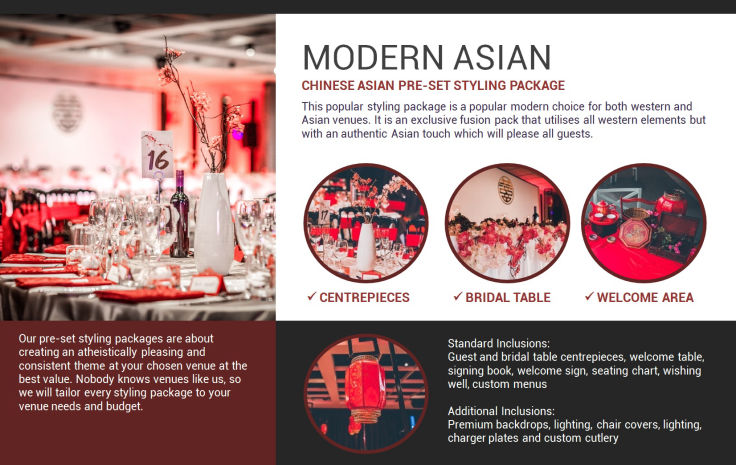 Modern Asian style decorations